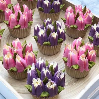 """Капкейки """"Цветы весны"""" - фото 4682"""